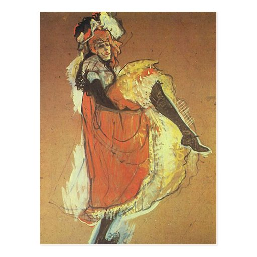 Henri Toulouse Lautrec - Jane Arvil Dancing Postcard