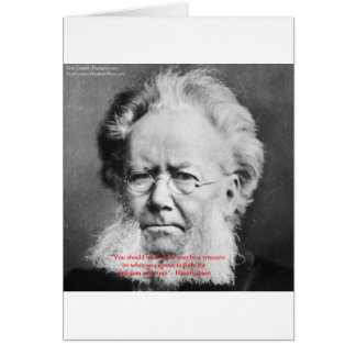 "Henrik Ibsen ""Freedom/Truth"" Wisdom Quote Gifts Card"