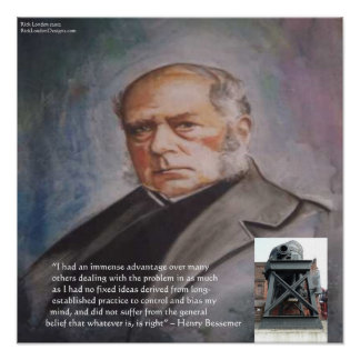 Henry Bessemer, His Steel Converter Poster Posters