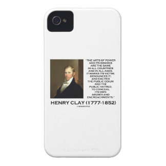 Henry Clay Arts Of Power Its Minions Same Quote iPhone 4 Cover