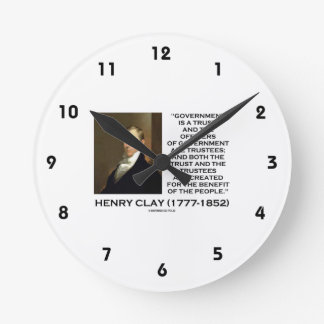 Henry Clay Govt Trust Officers Are Trustees Quote Round Clock