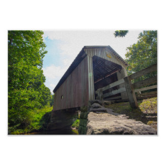 Henry Covered Bridge, Ohio Poster