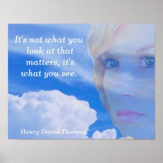 Henry David Thoreau - art print - quote