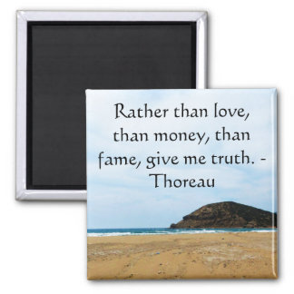 Henry David Thoreau inspirational TRUTH Quote Square Magnet