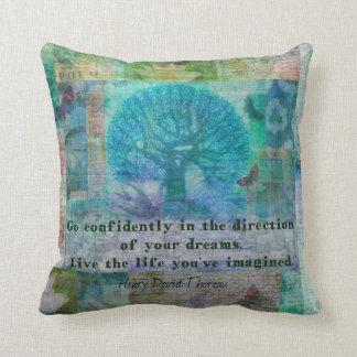 Henry David Thoreau motivational confidence quote Cushion