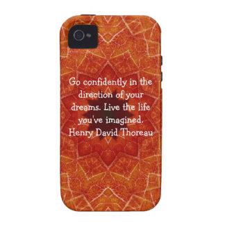 Henry David Thoreau Motivational Dream Quotation iPhone 4/4S Cases