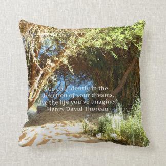 Henry David Thoreau Motivational Dream Quotation Cushion
