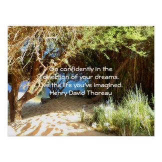Henry David Thoreau Motivational Dream Quotation Poster