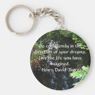 Henry David Thoreau QUOTATION Key Ring