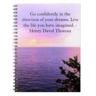 Henry David Thoreau QUOTATION Notebook