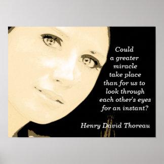 Henry David Thoreau - quote - art print