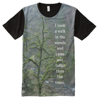 Henry David Thoreau Quote - Oregon Rain Forest All-Over Print T-Shirt