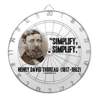 Henry David Thoreau Simplify Simplify Quote Dartboards