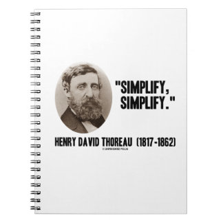 Henry David Thoreau Simplify Simplify Quote Note Books