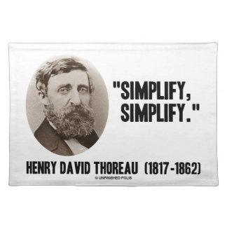 Henry David Thoreau Simplify Simplify Quote Placemat