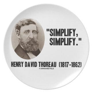 Henry David Thoreau Simplify Simplify Quote Plate