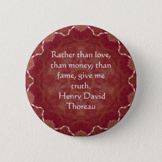 Henry David Thoreau Wisdom Quotation Saying 6 Cm Round Badge