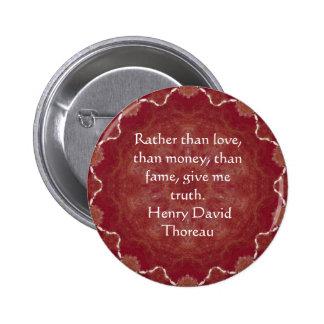 Henry David Thoreau Wisdom Quotation Saying 6 Cm Round Badge