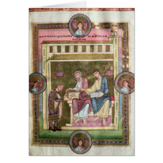 Henry III  with the Apostles Simon and Jude Greeting Card