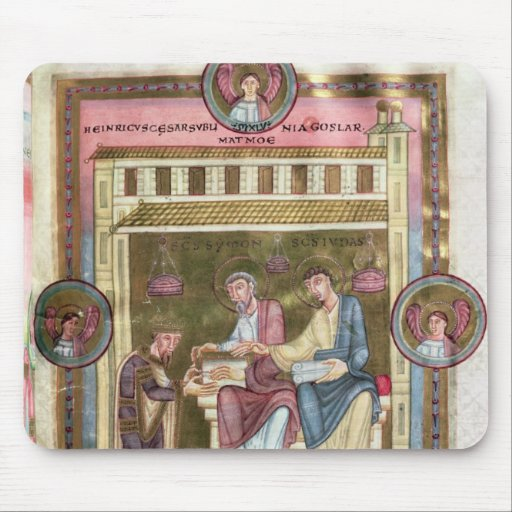 Henry III  with the Apostles Simon and Jude Mousepad