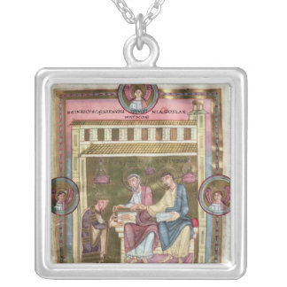 Henry III  with the Apostles Simon and Jude Square Pendant Necklace