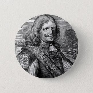 Henry Morgan Pirate Portrait 6 Cm Round Badge