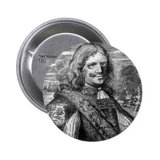 Henry Morgan Pirate Portrait 6 Cm Round Badge