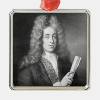 Henry Purcell Silver-Colored Square Decoration