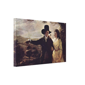 Henry Raeburn - Sir John and Lady Clerk Portrait Stretched Canvas Prints