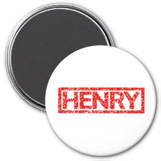 Henry Stamp 7.5 Cm Round Magnet