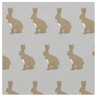 "Henry the Hare Combed Cotton Fabric 56"" Width"