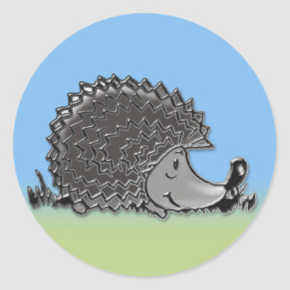Henry the hedgehog classic round sticker