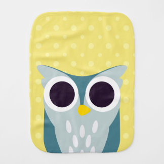 Henry the Owl Burp Cloths