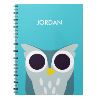 Henry the Owl Spiral Notebook