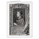 Henry V (1387-1422), after a painting in Kensingto Greeting Card