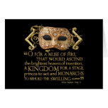 Henry V Quote (Gold Version) Cards