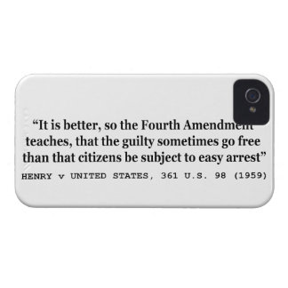 HENRY v UNITED STATES 361 US 98 1959 4th Amendment iPhone 4 Cover