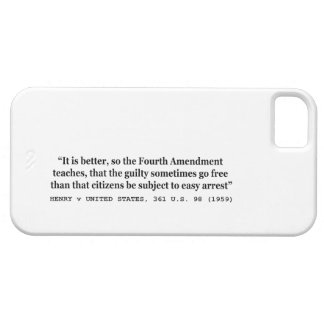HENRY v UNITED STATES 361 US 98 1959 4th Amendment iPhone 5 Cover