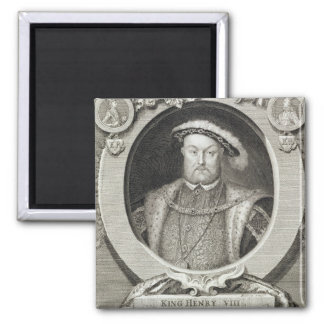 Henry VIII (1491-1547), after a painting in the Ro Square Magnet