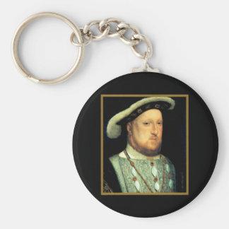 Henry VIII Basic Round Button Key Ring