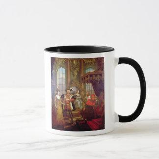 Henry VIII  introducing Anne Boleyn at court Mug
