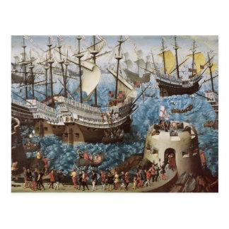 Henry VIII  on Board the Henry Grace a Dieu Postcard