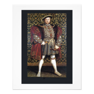 Henry VIII Portrait 11.5 Cm X 14 Cm Flyer