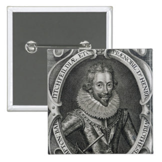 Henry Wriothesley, 3rd Earl of Southampton, 1617 15 Cm Square Badge