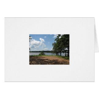 Henryetta Lake  photo taken by tina Greeting Card