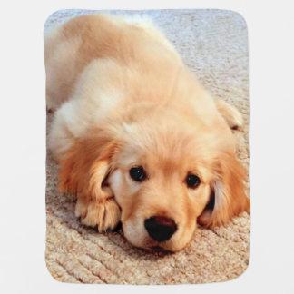 Henry's_World_Today Golden Retriever Baby Blanket