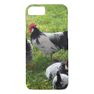 Hens Pecking in the Grass iPhone 7 Case