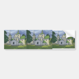 Heorhiy Narbut- Church of the Nativity Bumper Stickers