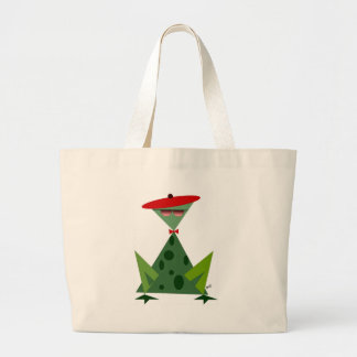 Hep Frog Large Tote Bag