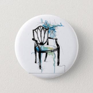 Hepplewhite Chair - Watercolor 6 Cm Round Badge